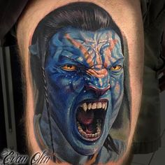 piece I did about a year ago. James Cameron, Avatar Tattoo, Tattoo Pain, Tattoo Zeichnungen, Beautiful Tattoos, Awesome Tattoos, Sully, Sexy Tattoos, Color Tattoo