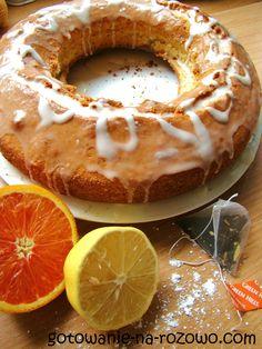 Pomarańczowa babka z herbatą  www.gotowanie-na-rozowo.com