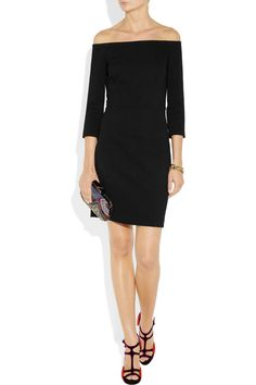 DKNY  Off-the-shoulder jersey-twill dress  $335