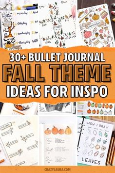 If you need some fresh ideas for your bujo layouts, check out these awesome fall themed spreads for inspiration! #bulletjournal #bujospread #bujoideas #fallbujo Bullet Journal Writing, Bullet Journal Ideas Pages, Bullet Journal Spread, Bullet Journal Inspiration, Book Journal, Doodle Inspiration, Bullet Journals, 30 Day Art Challenge, Fun Projects For Kids