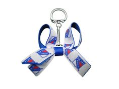 New York Rangers Mini Bow Keychain