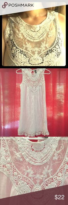 f31190eba5726 Bathing suit beach cover up lace sheer dress I love this. Was gifted to me