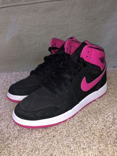 139ec7ef64be12 Extra Off Coupon So Cheap Pink and Black jordan 1