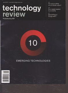 Technology Review Magazine (June 2012) « Library User Group