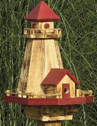 Nautical Lighthouse Birdhouse & Bird Feeder by AmishCraftedAccents, $129.97
