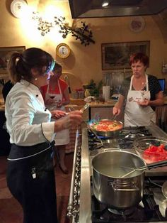 Michelin chef Silvia Baracchi is doing a cooking class at Il Falconiere in Tuscany, Italy.