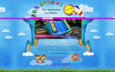 WEB DESIGN >> Fun Galore Jumping Castles in Nelspruit & White River - Created by Design so Fine Website Designs, Castles, Party Time, Web Design, River, Create, Fun, Design Web, Chateaus