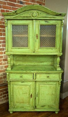 Old green hutch. I'd paint a different color