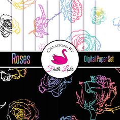 DESCRIPTION: Rose prints are hot!! These digital papers are the tools you need to create beautiful graphics, marketing products and more.