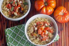 Greek pasta with feta and shrimp