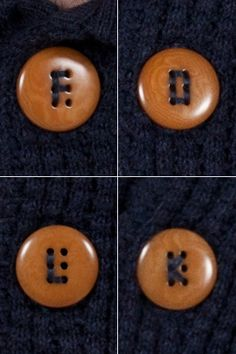 swell idea for holes on buttons. Makes me think of Emy's birdfoot pattern for sewing on buttons....