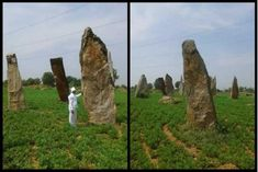 Menhirs - The large standing stones that form an observatory in Telangana, India (Satya Vijayi) Ancient Astronomy, Astronomical Observatory, Psychadelic Art, Ancient Architecture, Ancient Civilizations, Sacred Geometry, Archaeology, Stones, India
