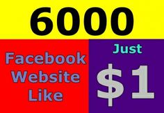 give USA 6000 Facebook Website Likes Real and Perm... for $1