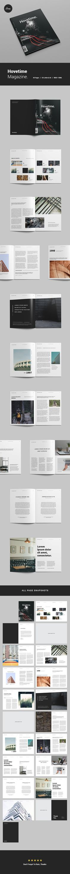Clean & modern layout InDesign magazine template.With total of 40 pages…