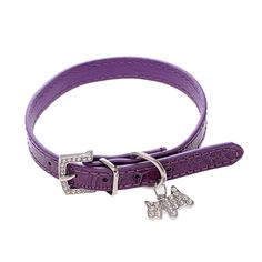 Puppy-league® Soft Croc Skin Leather with Rhinestone-dog Pendant cat Puppy Collars *** Awesome cat product. Click the image : Cat Collar, Harness and Leash