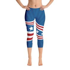 3e7492f050e Show your USA pride with these super cute American Flag style capri  leggings! Super soft and comfortable capri leggings.