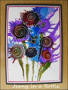 Alcohol ink....flowers....!!!