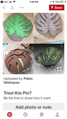 Make a simple DIY monstera drop dish for your home MakingPottery Hand Built Pottery, Slab Pottery, Ceramic Pottery, Ceramics Projects, Clay Projects, Diy Clay, Clay Crafts, Pottery Handbuilding, Diy Tableware