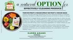 A natural way to clean your fruits and veggies.