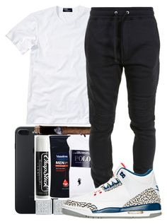 """Untitled #106"" by crenshaw-m4fia ❤ liked on Polyvore featuring Chapstick, Polo Ralph Lauren, Balmain, men's fashion and menswear"