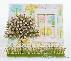 Poppystamps - Grand Madison Window could use: Cheery Lynn - Wreath Strip - B216