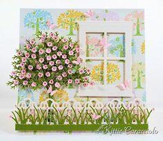 Poppystamps - Grand Madison Window could use: Cheery Lynn - Wreath Strip - B216