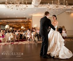 This was the perfect dress for their grand wedding at the Terminal City Club! Beautiful Bride, Most Beautiful, Blush Bridal, A Day To Remember, First Dance, Formal Wear, Tiffany, Groom, Reception