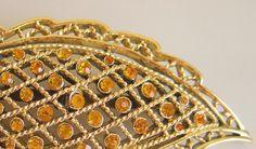 Rhinestone Leaf Gold