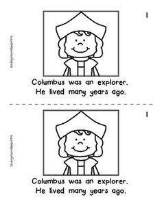 Christopher Columbus Little Book Freebie by Kindergarten with Susie Early Settler, Columbus Day, Christopher Columbus, Little Books, Mini Books, Learning Activities, Social Studies, Worksheets, Kindergarten