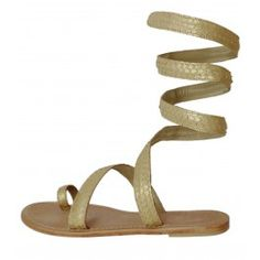 Cannes Light Gold Sandals