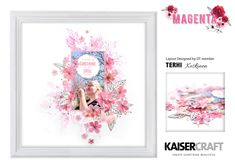 Kaisercraft Magenta features delicate botanicals in full bloom and brushstrokes creating a feminine and trendy collection. Wholesome quotes and imagery. Scrapbook Albums, Scrapbooking Layouts, Scrapbook Paper, Silk Art, Trendy Collection, Something Beautiful, Layout Design, Magenta, Hot Pink