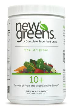 NewGreens is a complete superfood drink with 10+ Servings of fruits and vegetables per scoop! Check out our 3 delicious flavors: Original, Berry and Organic Blend. Enjoy FREE shipping on your first order!