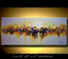 Original Abstract Painting Modern Textured Painting by xiangwuchen, $299.00