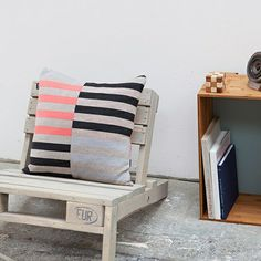 Striped Pillow by FUSS | MONOQI #bestofdesign