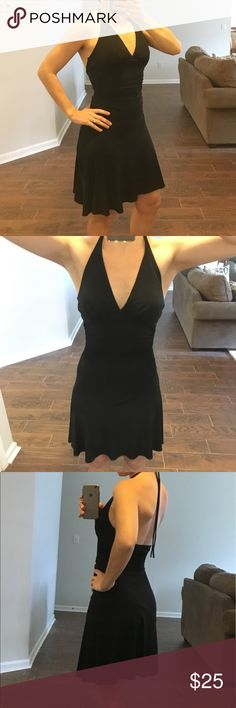 "🖤 City Triangles Little Black Dress Sexy little black halter dress! Flirty skirt for dancing, or perfect for a date night out! Gently used, no defects.   Under bust = 11"" City Triangles Dresses"
