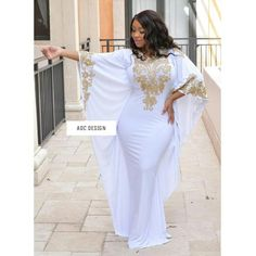 A kaftan or caftan is a variant of the robe or tunic and has been worn by several cultures around the world for thousands of years. The kaftan is often worn as a coat or as an overdress, usually reaching to the ankles, and with long sleeves. African Attire, African Dress, Kaftan Style, Moroccan Dress, Latest African Fashion Dresses, Abaya Fashion, Stunning Dresses, Dress Making, Evening Dresses
