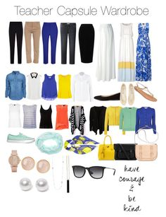 Teacher capsule wardrobe by lauren-elizabeth-atterbery on Polyvore featuring polyvore, fashion, style, Darling, New Look, Lee, L.K.Bennett, Object Collectors Item, Topshop, Dorothy Perkins, Rebecca Taylor, Orla Kiely, Diane Von Furstenberg, VILA, Ms MIN, T By Alexander Wang, Philipp Plein, Armani Collezioni, Tome, Uniqlo, Band of Outsiders, Alexander McQueen, Vans, BP., Charlotte Russe, Calvin Klein, The Cambridge Satchel Company, Nouv-Elle, Saachi, ALDO, Caipora Jewellery, Ray-Ban, Mint…