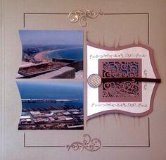 """Une erreur de lieu réparée....... Mirage avec une vue du port d'Agadir. La carte moyenne est pliée en 2 et coupée au centre d'une moitié avec la matrice de découpe """"carte 2"""". La carte en tenue fermée par un ruban et une pastille de résine sous laquelle..."""