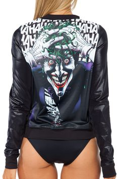 Killing Joker GF Bomber, Black Milk Clothing Batman Collection