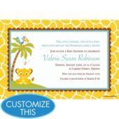 Lion King Baby Shower Custom Invitation