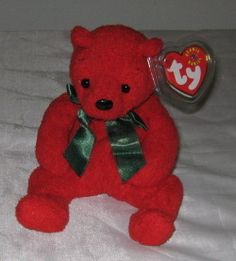 MISTLETOE THE CHRISTMAS BEAR - Ty Beanie Baby (Babies)