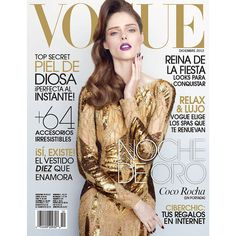 Golden Girl Coco Rocha for Vogue Mexico ❤ liked on Polyvore featuring magazine, backgrounds, cover, imagenes and people