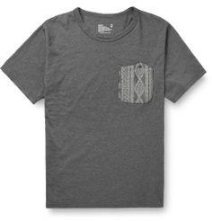 White MountaineeringContrast Pocket Cotton-Jersey T-Shirt|MR PORTER