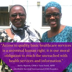 Stella Mpanda and Tausi Suedi, Childbirth Survival International founders.