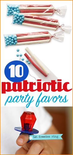 10 Patriotic party favors. Celebrate the 4th of July with fun festive favors for kids and adults.