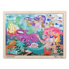 Melissa and Doug Mermaid Fantasea Wooden Puzzle - 2911