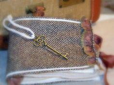 Fabric Journal MINI MEMORIES wool rhinestones by pillowsbytamilyn, $33.99