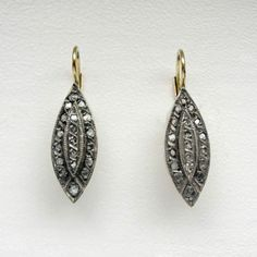 Antike-Marquise-Ohrringe-mit-Diamanten-Gold-585er-Erbstueck