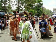 Lucky enough to be in Marinduque? Then you've probably seen these guys at this year's Moriones Festival. Held every Holy Week, locals dressed in Roman soldier masks and costumes roam the streets, scaring away some kids -- but all in good fun!