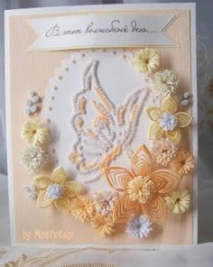 beautiful card - Quilled Butterfly and Flowers